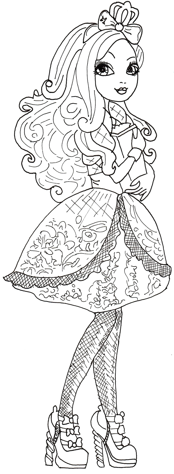 Ever after High Coloring Pages Apple White All About Ever after High Dolls Apple White Coloring Pages