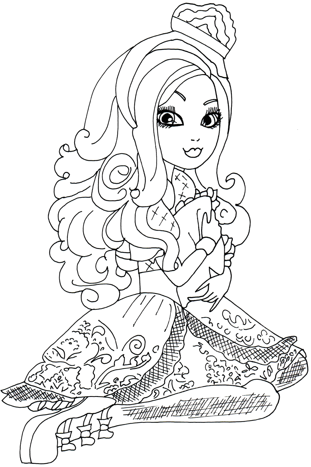 free printable apple white coloring page