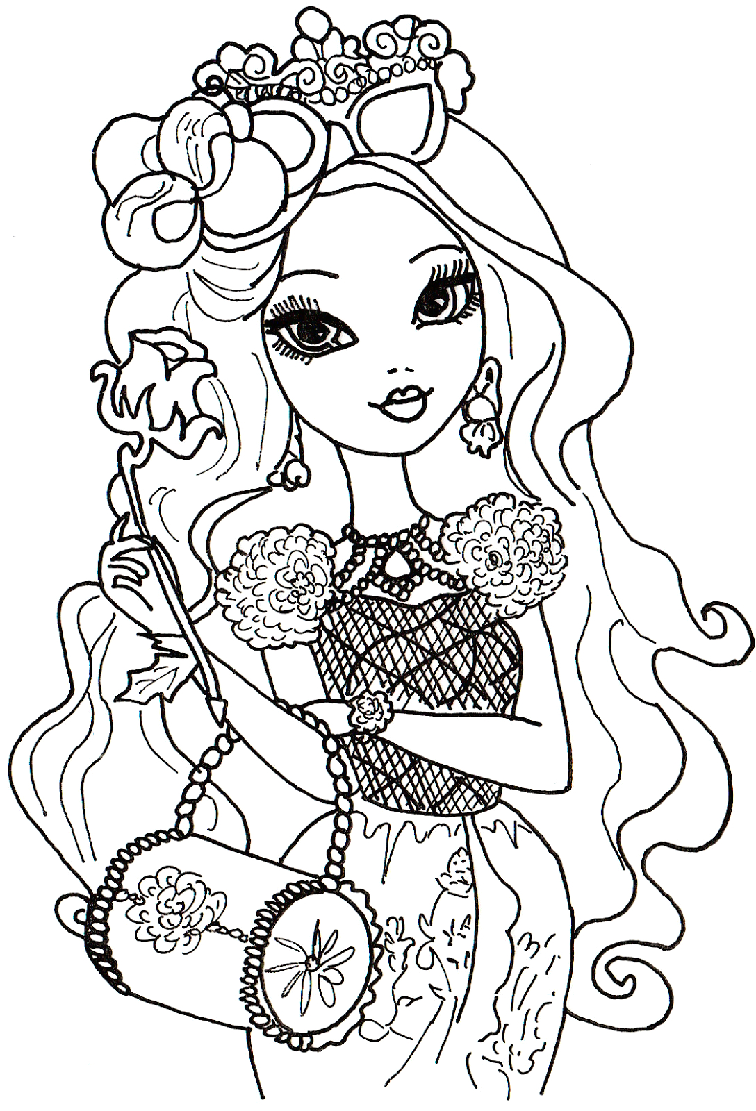 Ever after High Coloring Pages Briar Beauty Free Printable Ever after High Coloring Pages Briar