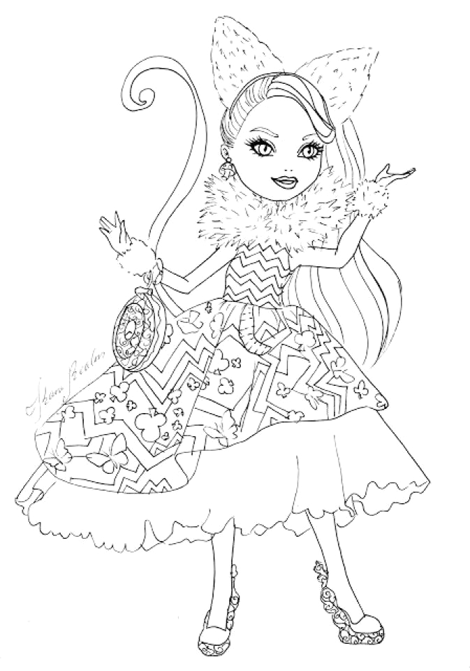 ever after high coloring pages darling charming