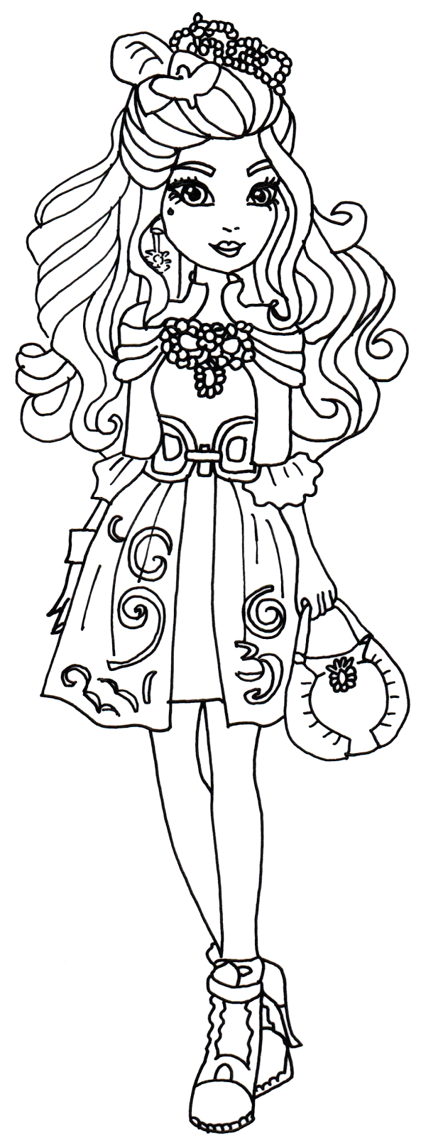 Ever after High Coloring Pages Darling Charming Free Printable Ever after High Coloring Pages Darling