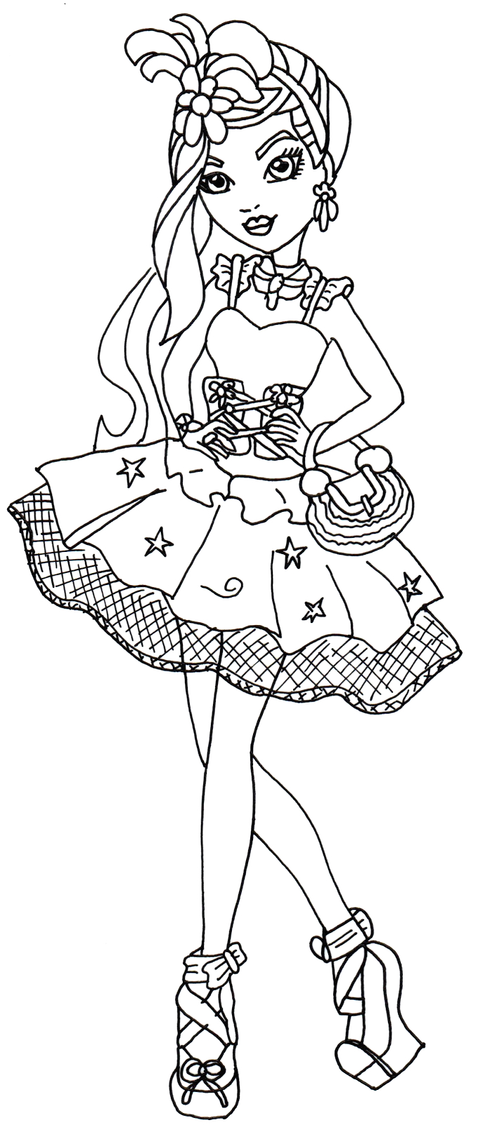 dragon ever after high coloring pages