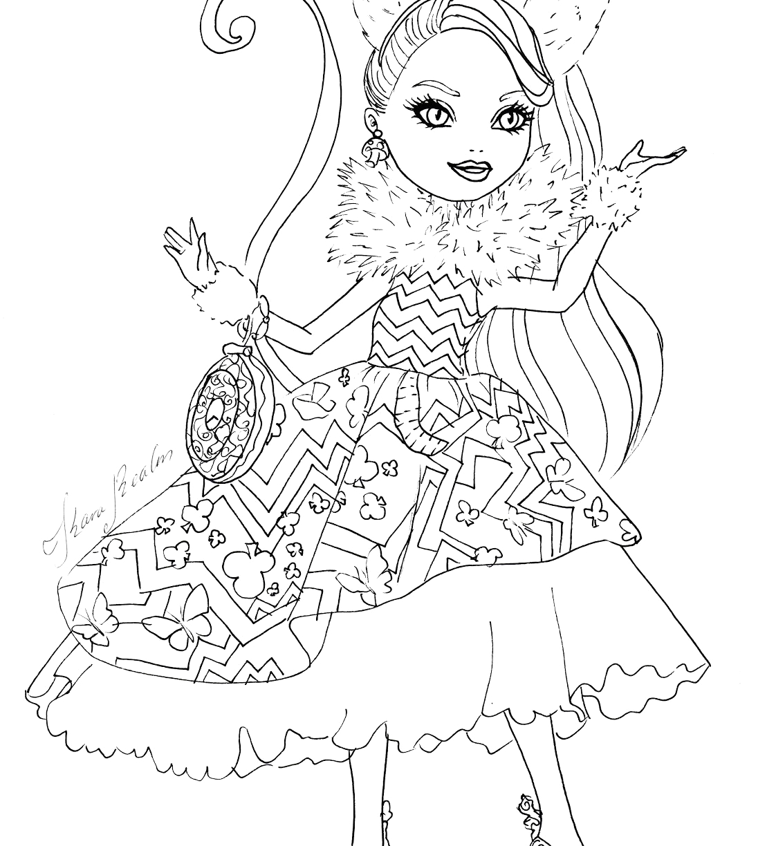 ever after high dragon games coloring pages