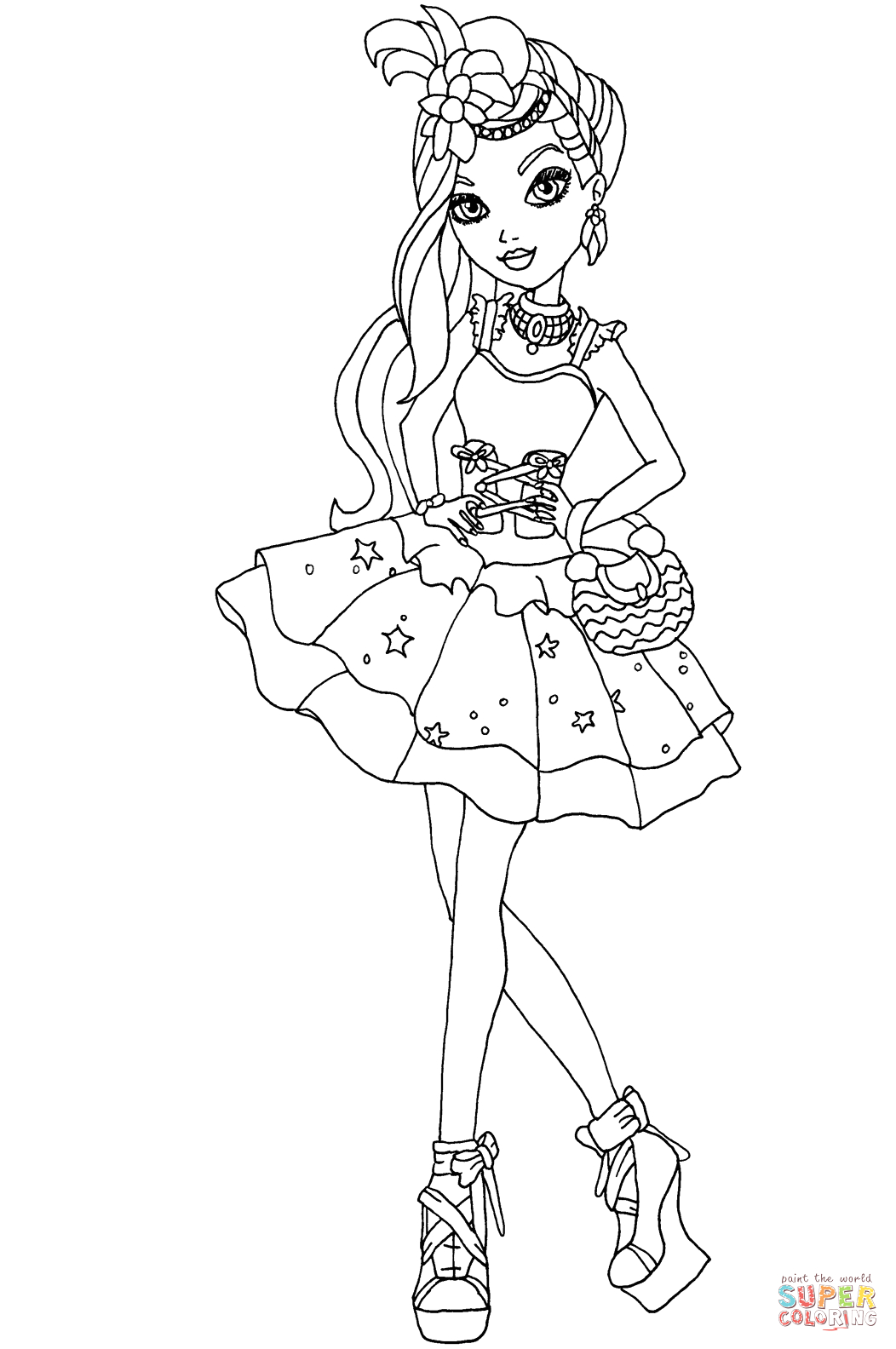 Ever after High Coloring Pages Duchess Swan Ever after High Duchess Swan Coloring Page