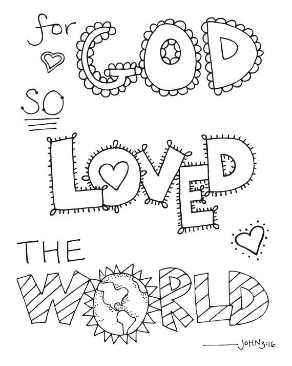 bible verse coloring pages bible quote for god so loved the world