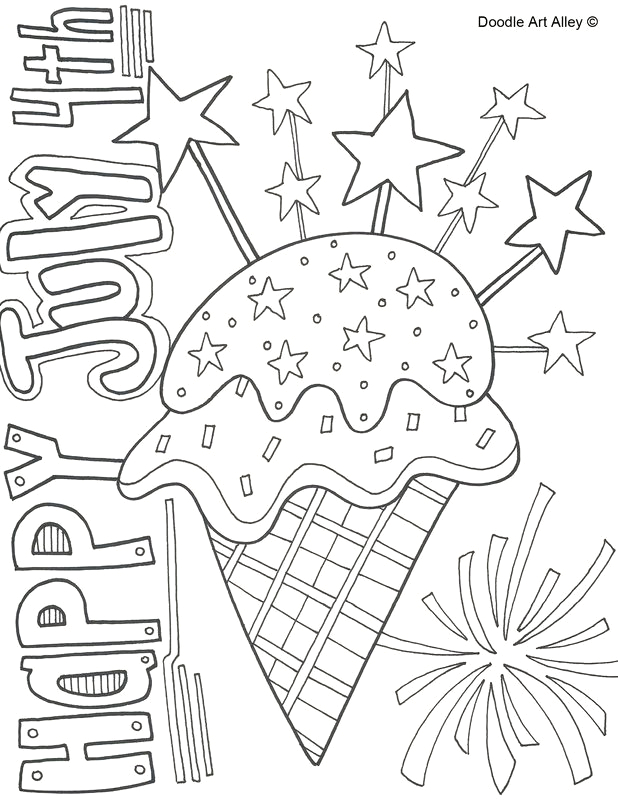 july 4th coloring page