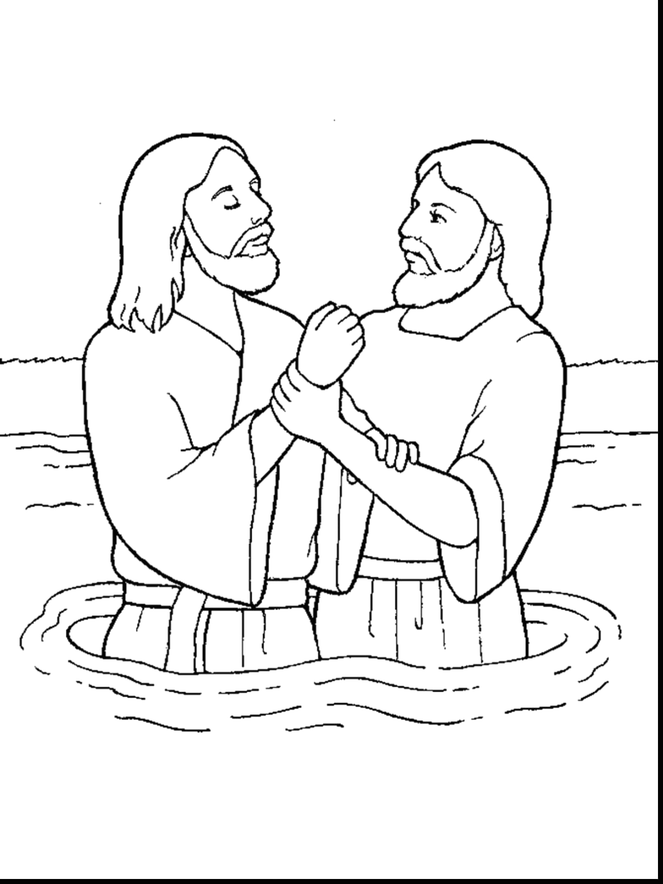 Free Coloring Pages Of Jesus Being Baptized Free Coloring Pages Jesus Baptism Neo Coloring