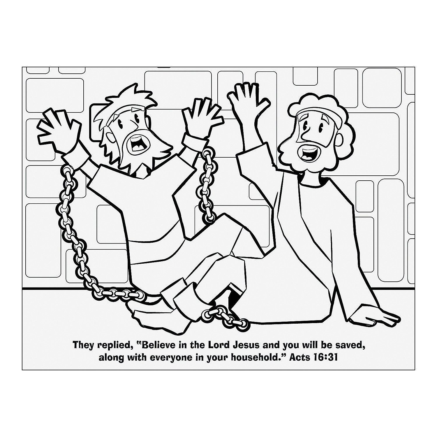 Free Coloring Pages Of Paul and Silas Paul and Silas Coloring Page