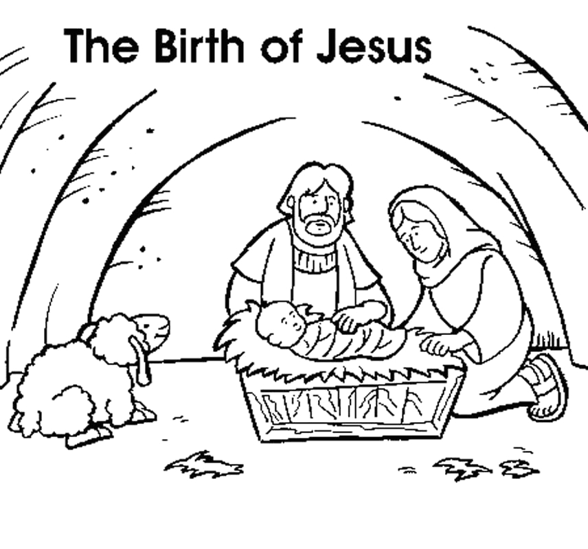 Free Coloring Pages Of the Birth Of Jesus the Birth Jesus Coloring Page Coloring Home