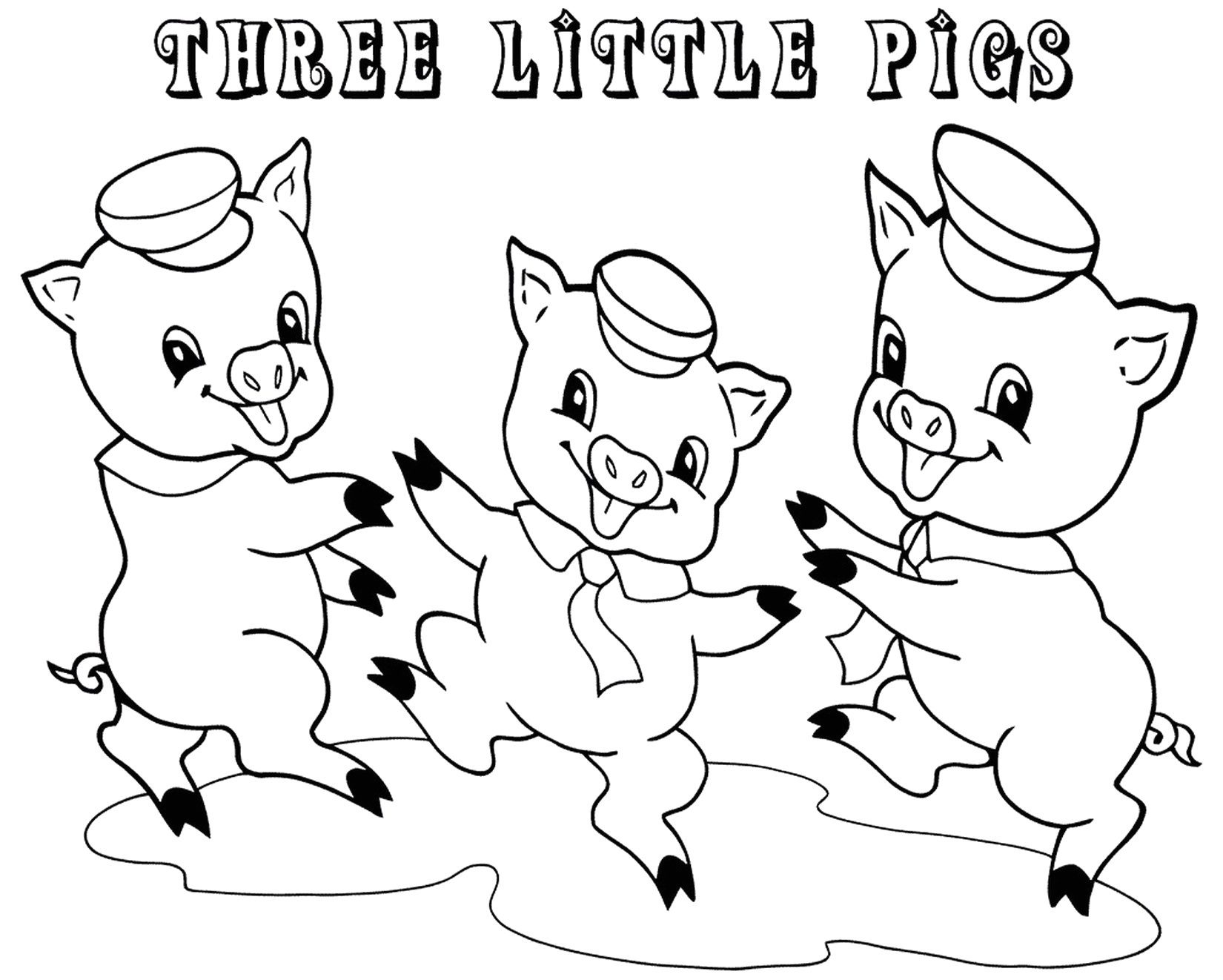 Free Coloring Pages Of the Three Little Pigs Three Little Pigs Coloring Pages for Preschool Fun