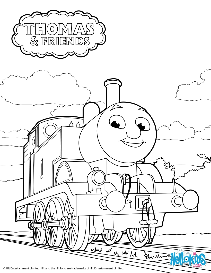 Free Coloring Pages Of Thomas the Tank Engine Thomas the Tank Engine Coloring Pages Hellokids