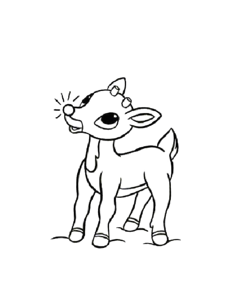 Free Coloring Pages Rudolph the Red Nosed Reindeer Rudolph the Red Nosed Reindeer Coloring Pages Hellokids