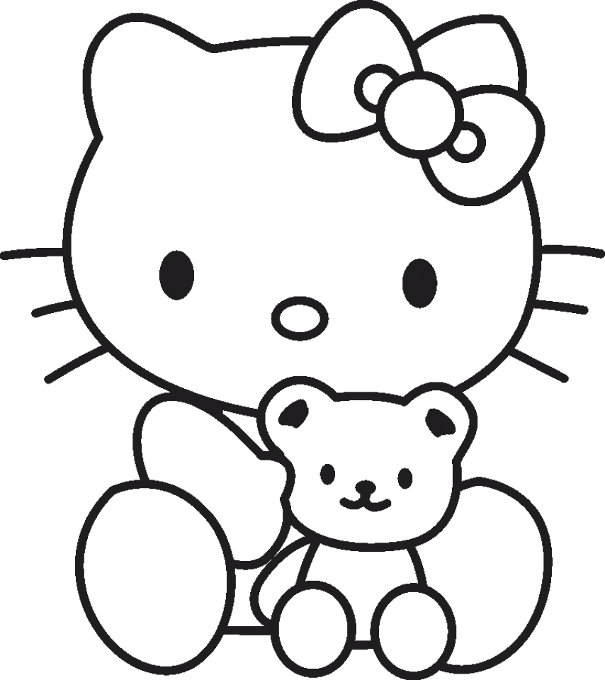 hello kitty coloring pages free wu56m0