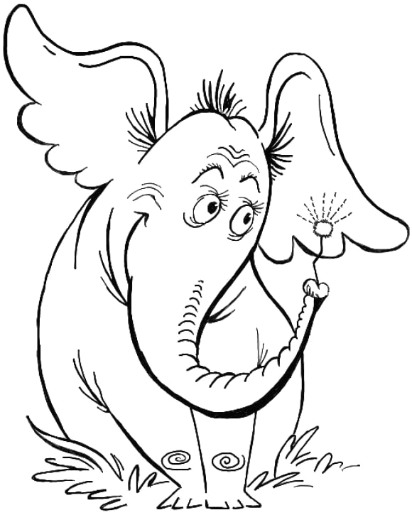 horton hears a who coloring page full