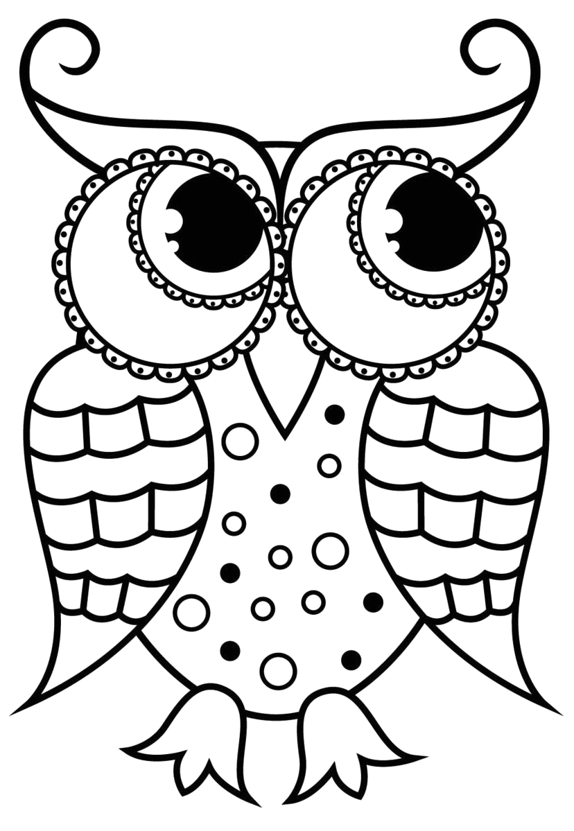 large print owls coloring book for beginners seniors or visually impaired