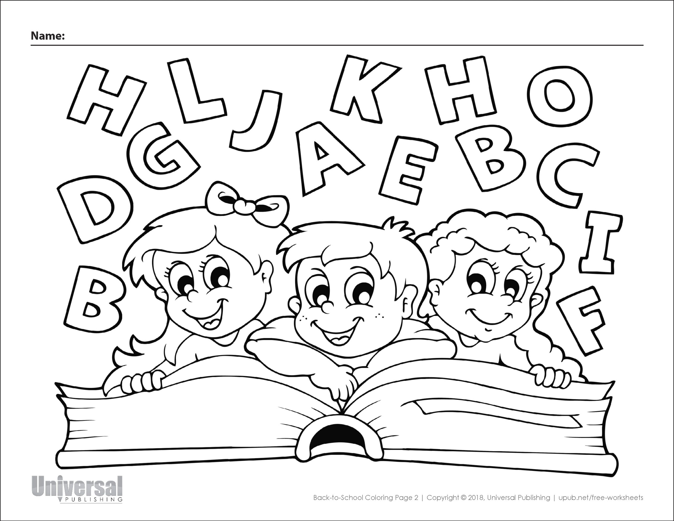 back school coloring pages free printables