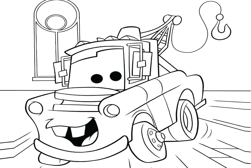free coloring pages of cars and trucks
