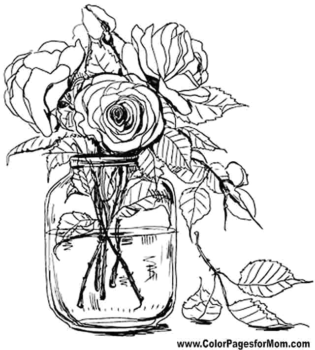 flower coloring pages for adults picture