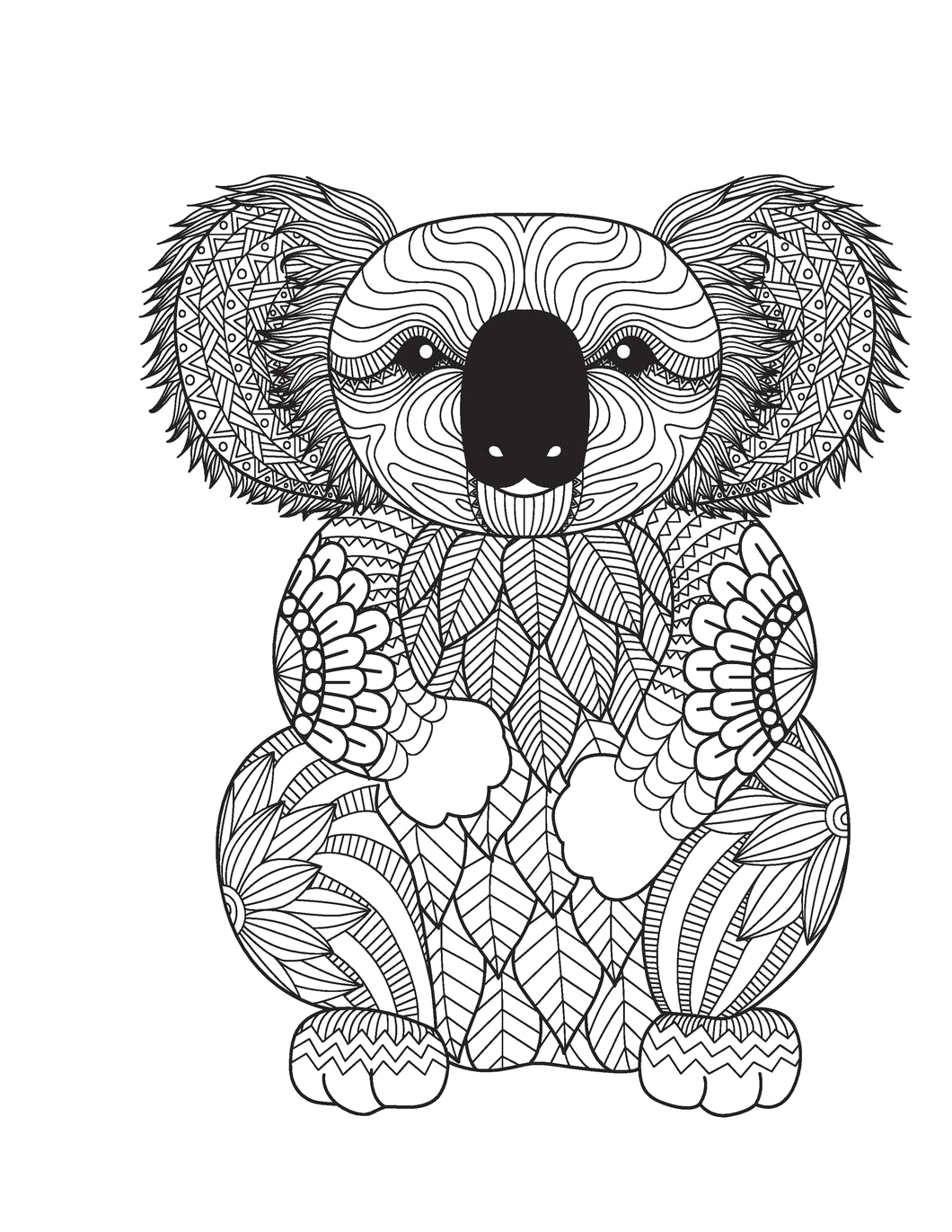 amazing animals adult coloring book