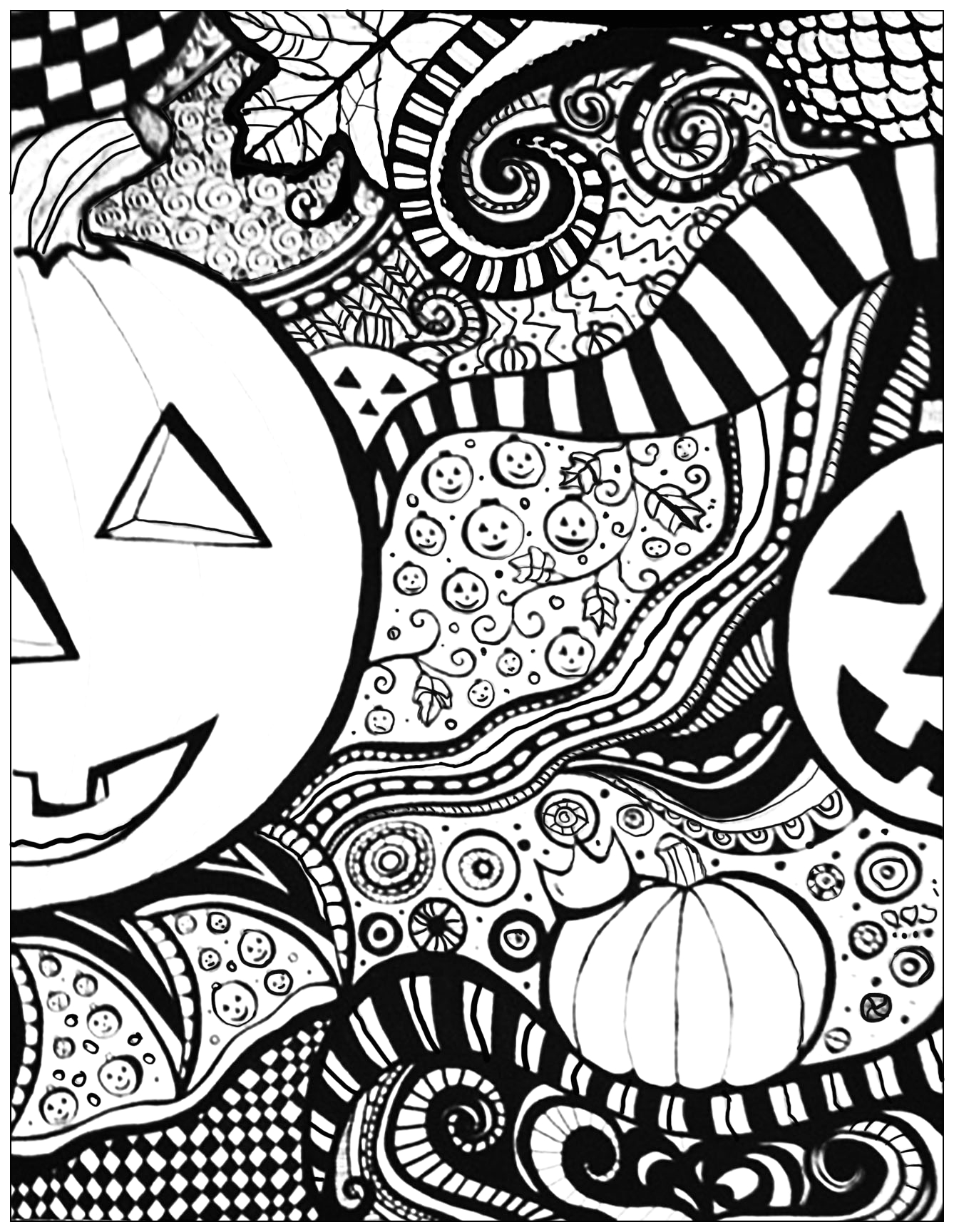 Free Printable Coloring Pages for Adults Halloween Halloween Sheet Halloween Adult Coloring Pages