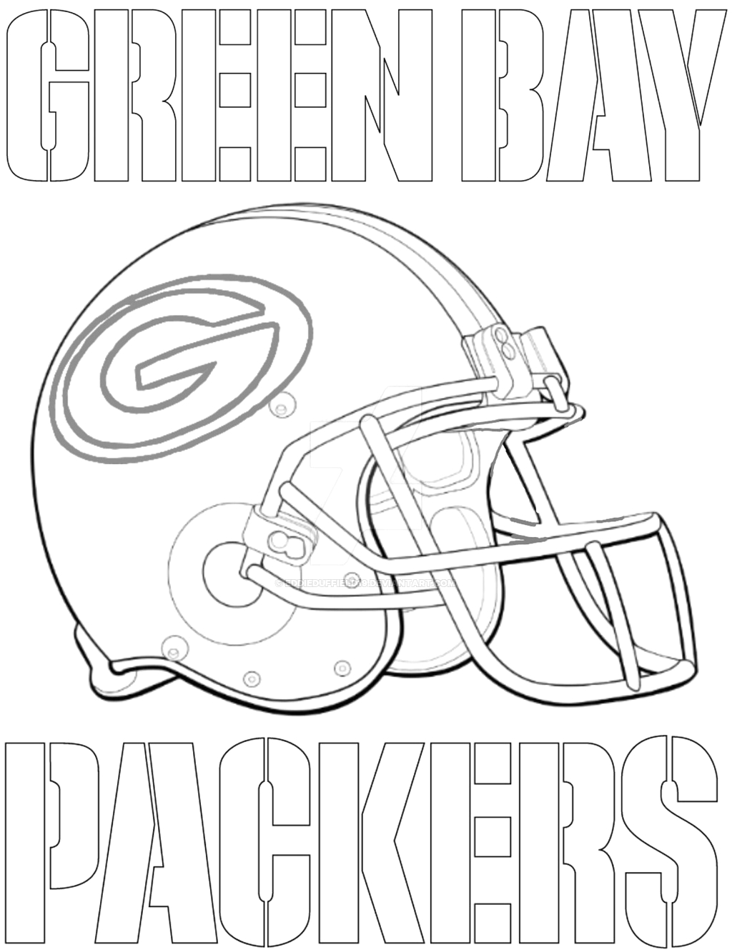 Free Printable Green Bay Packers Coloring Pages 20 Green Bay Packers Coloring Pages