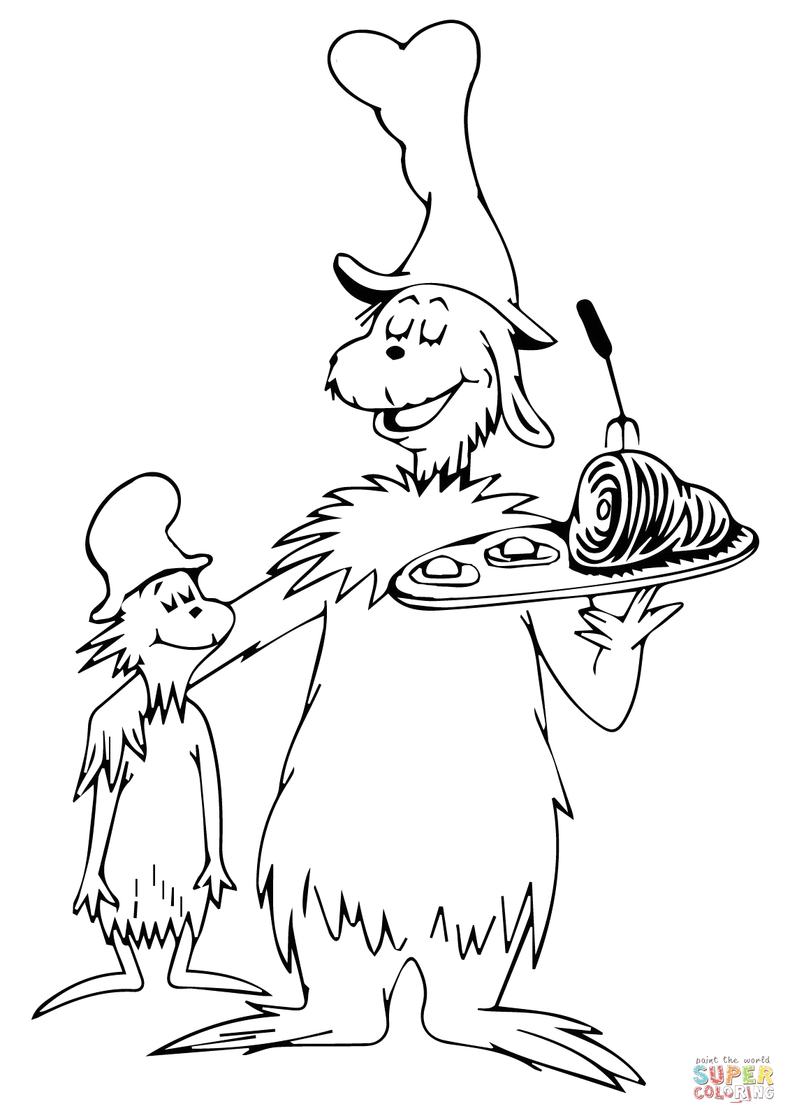 Free Printable Green Eggs and Ham Coloring Pages Green Eggs and Ham Coloring Page Coloring Home