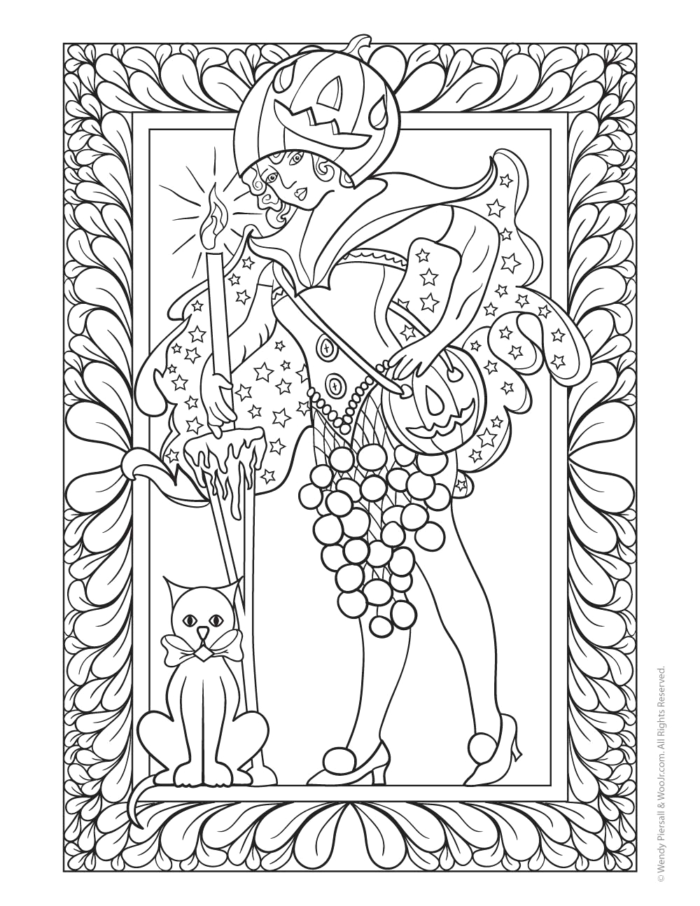 Free Printable Halloween Coloring Pages for Adults Only Halloween Pixie Fairy Coloring Page