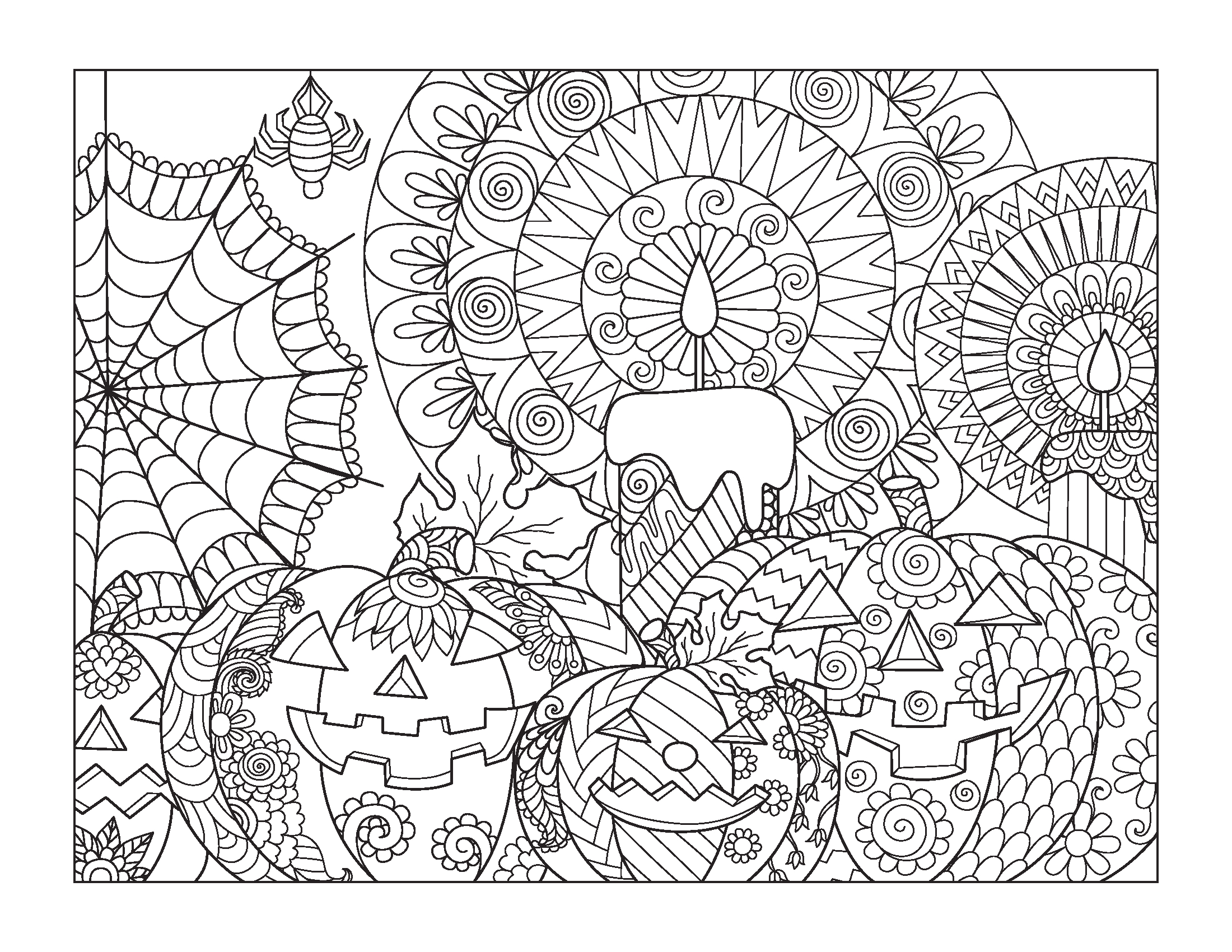 Free Printable Halloween Coloring Pages for Older Kids Halloween Coloring Pages for Older Kids Gift Of Curiosity