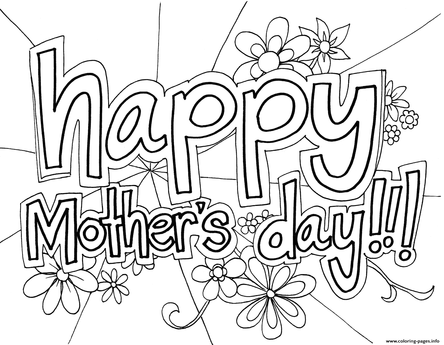 Free Printable Happy Mothers Day Coloring Pages Free Happy Mothers Day Coloring Pages Printable