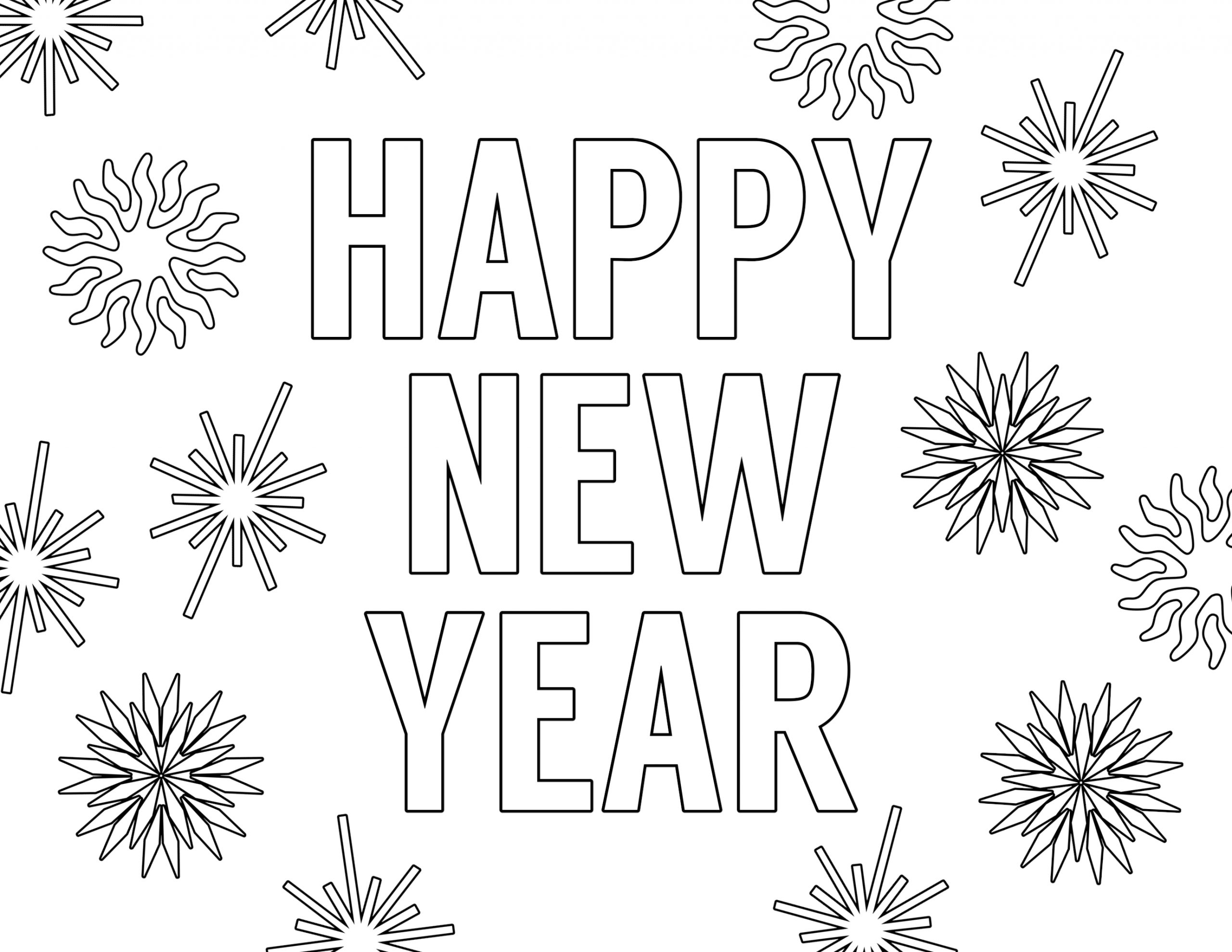 Free Printable Happy New Year Coloring Pages Happy New Year Coloring Pages Free Printable Paper Trail