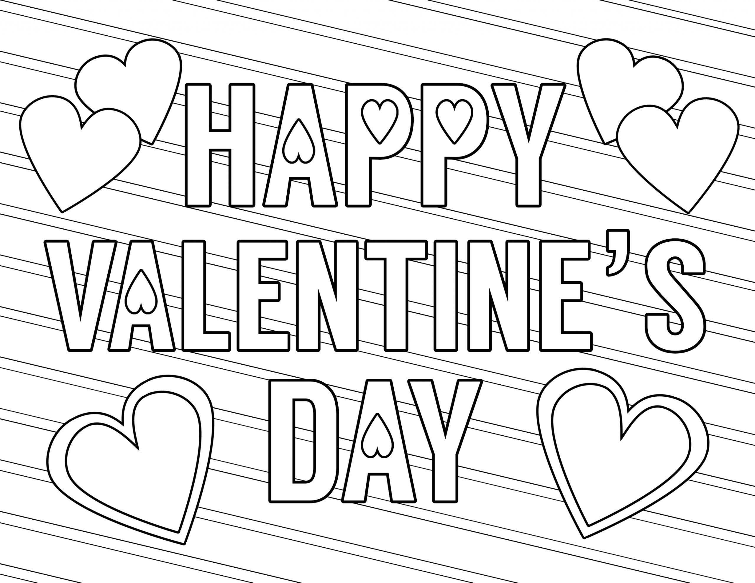 Free Printable Happy Valentines Day Coloring Pages Free Printable Valentine Coloring Pages Paper Trail Design