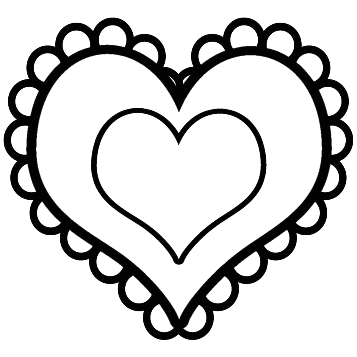 Free Printable Heart Coloring Pages for Kids Free Printable Heart Coloring Pages for Kids