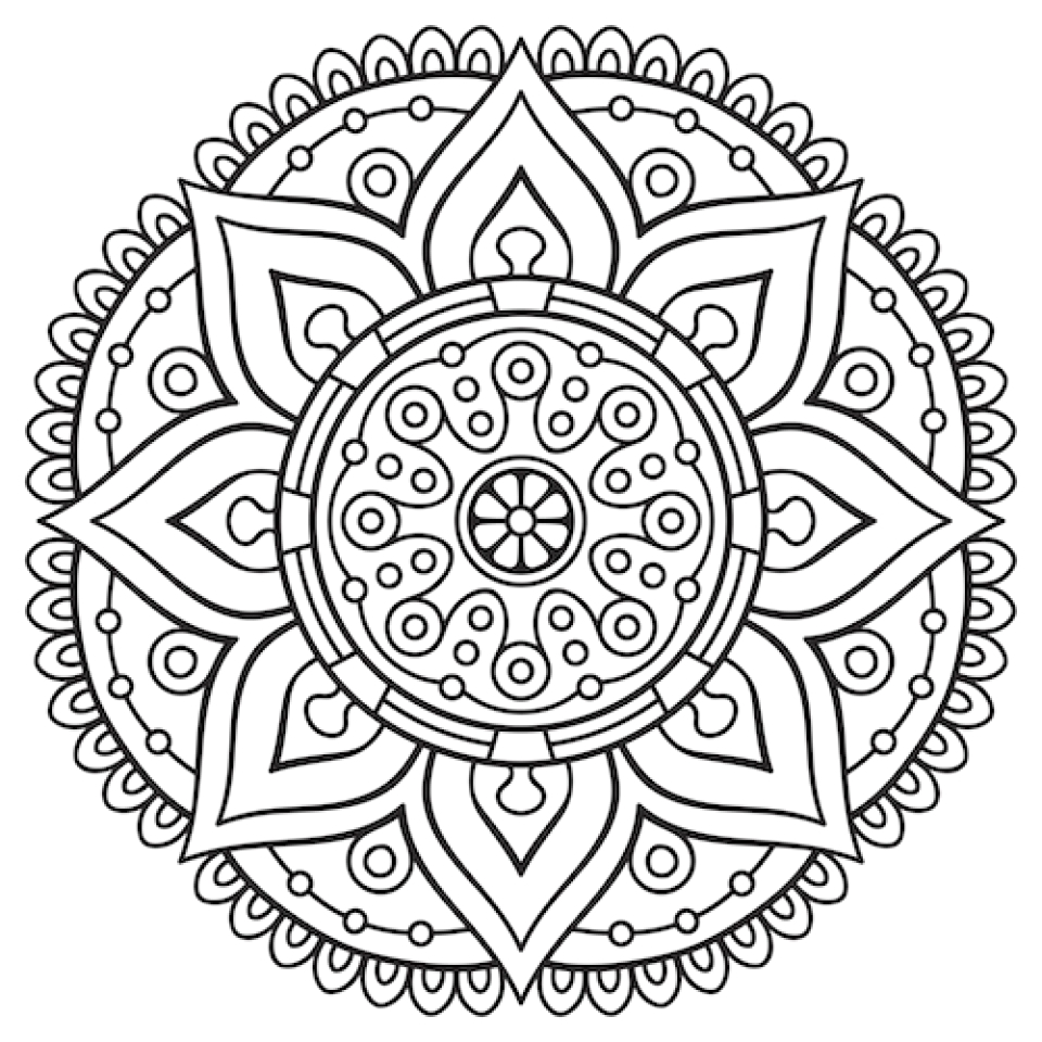 mandala coloring pages for adults free printable