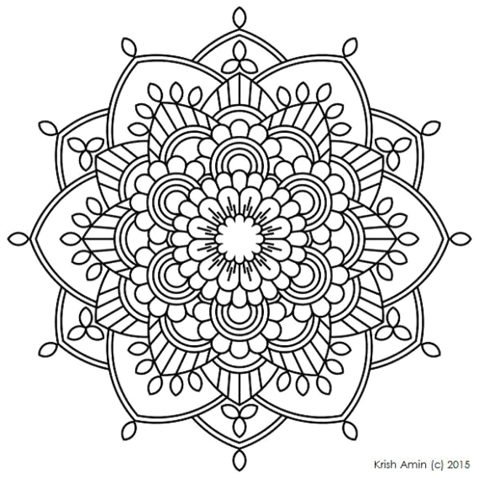 printable mandala coloring pages for adults online
