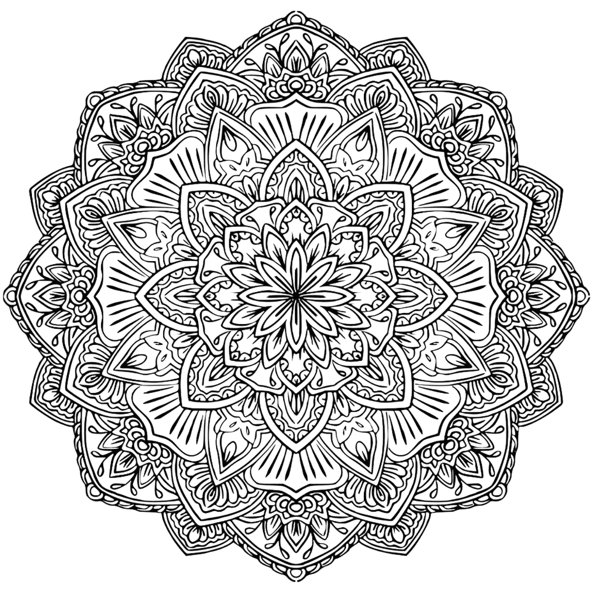 Free Printable Mandala Coloring Pages for Adults Pdf Mandala to In Pdf 1 M&alas Adult Coloring Pages