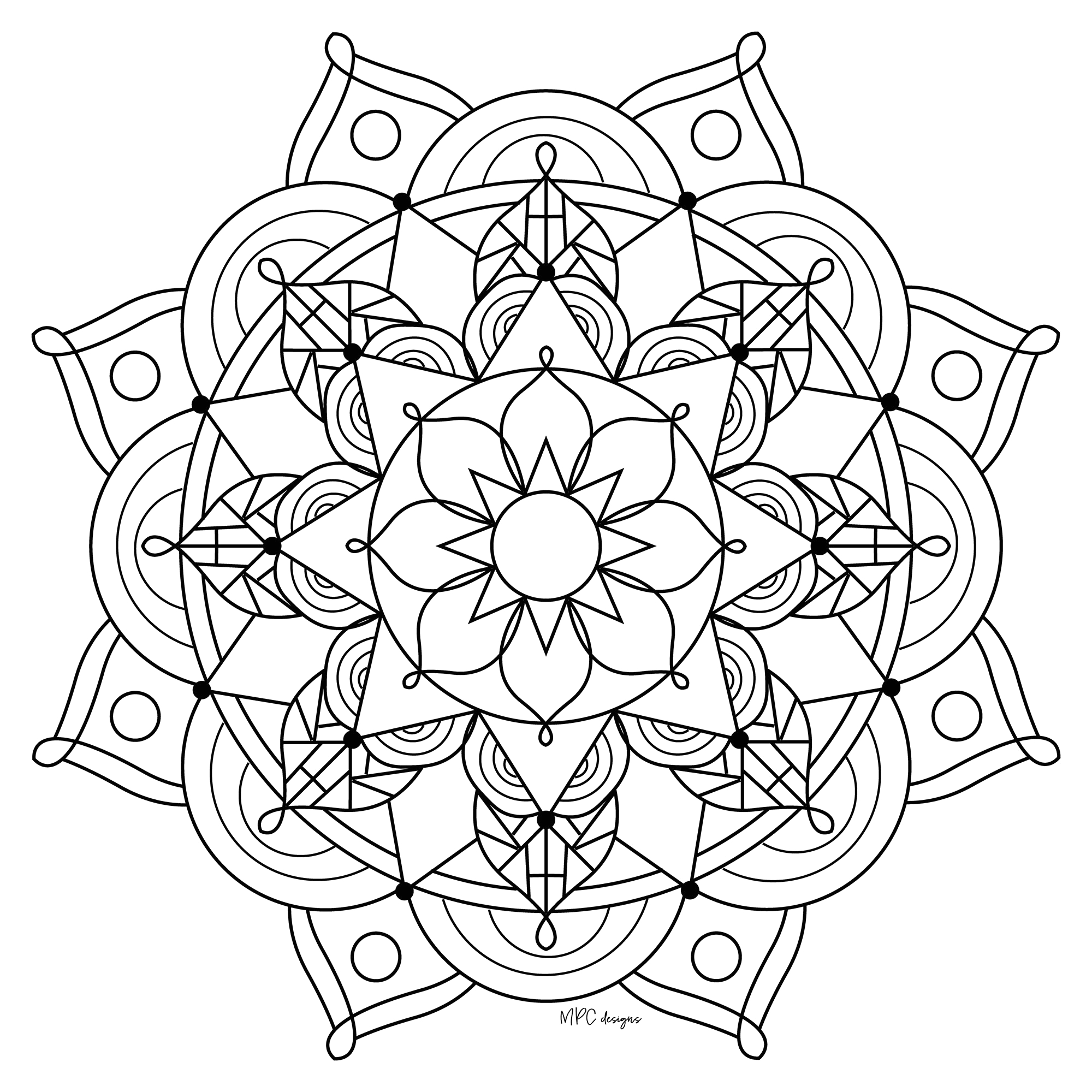 Free Printable Mandala Coloring Pages for Kids Mandalas to Color for Kids Mandalas Kids Coloring Pages