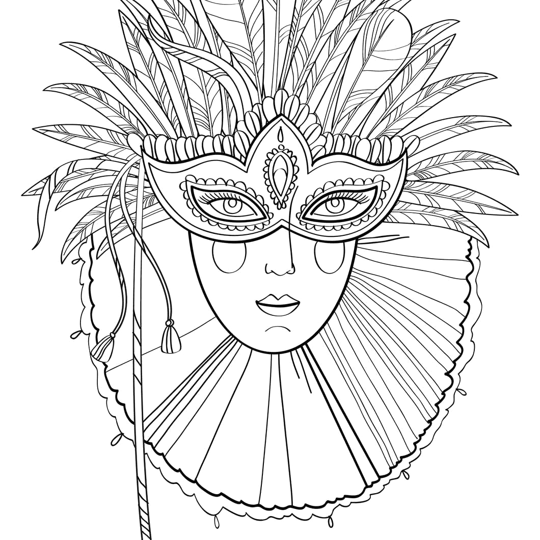 free mardi gras coloring pages