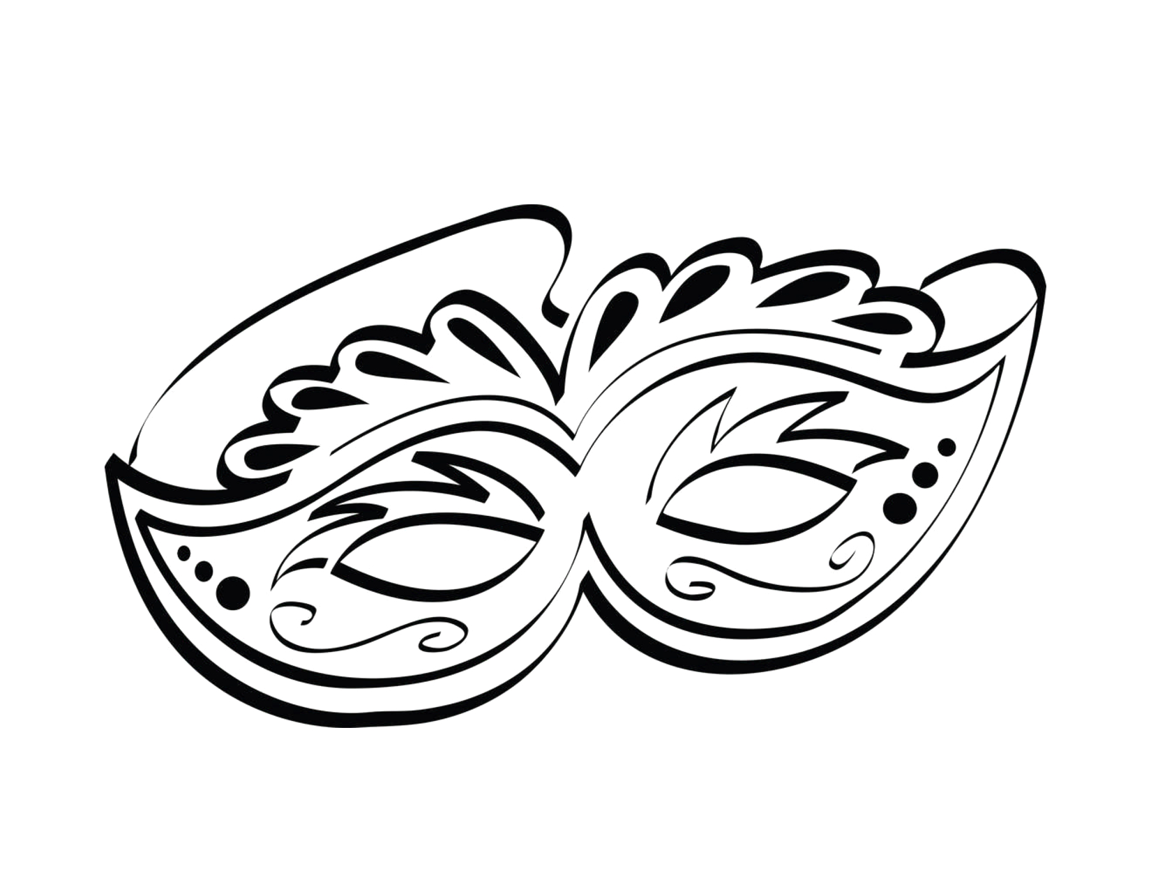 beautiful mardi gras mask printable coloring pages sketch templates