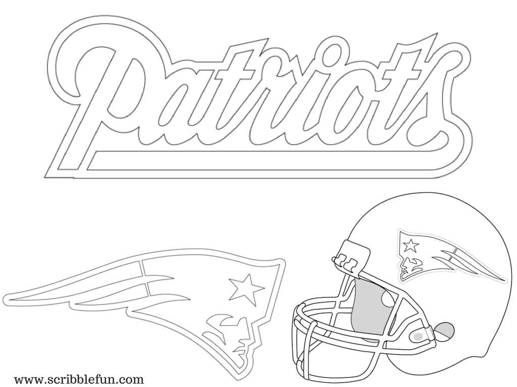 new england patriots coloring pages