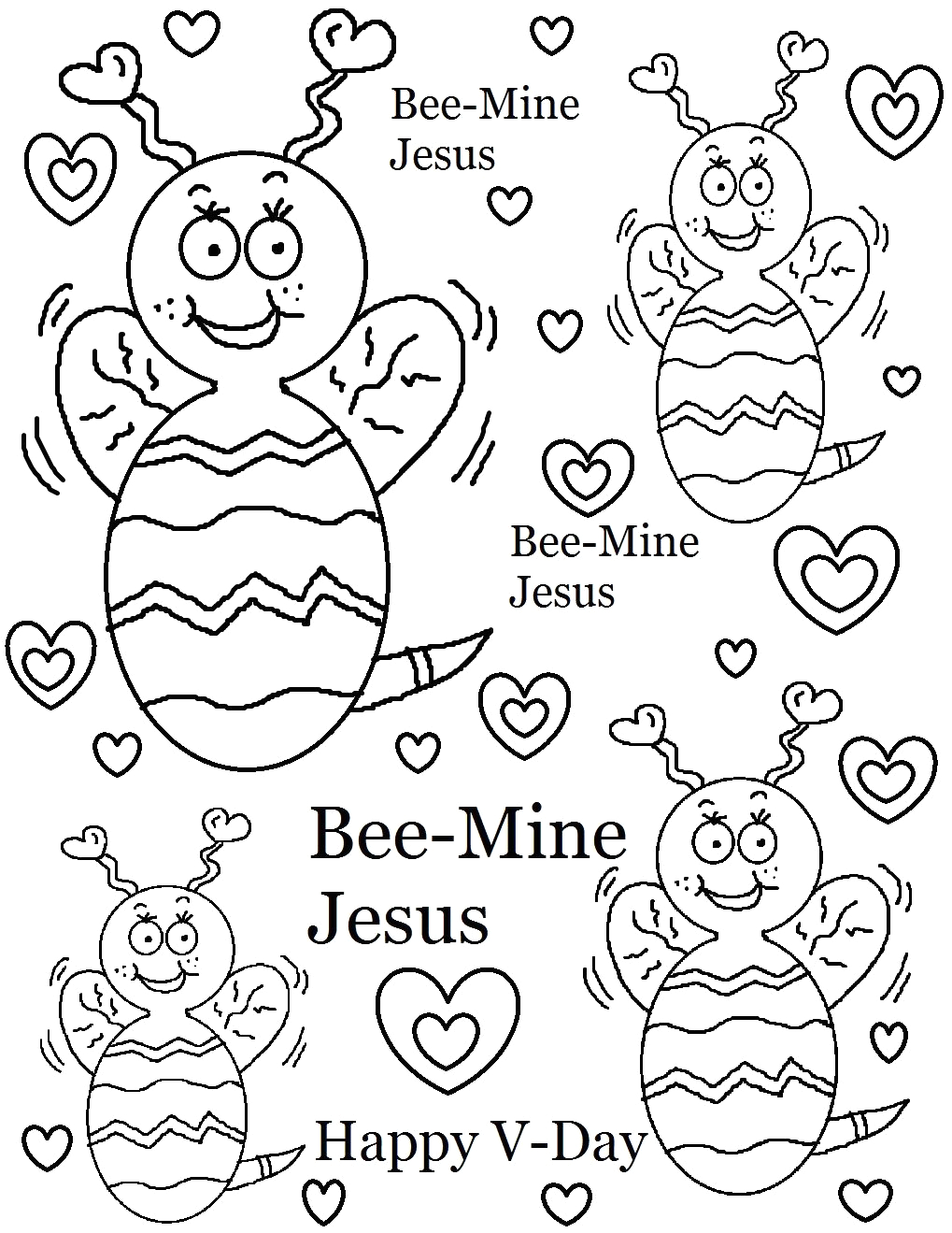 valentines day coloring pages for sunday school