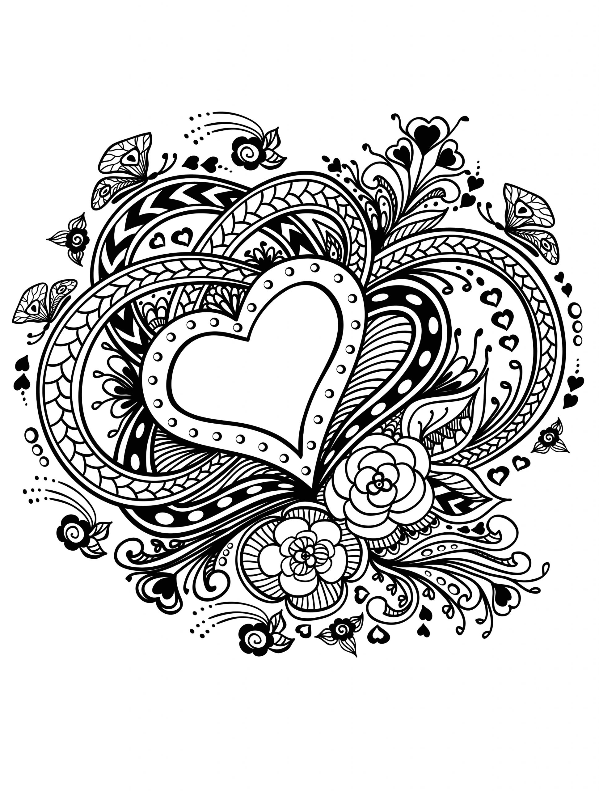 Free Valentines Day Coloring Pages for Adults Valentines Day Coloring Pages for Adults Best Coloring