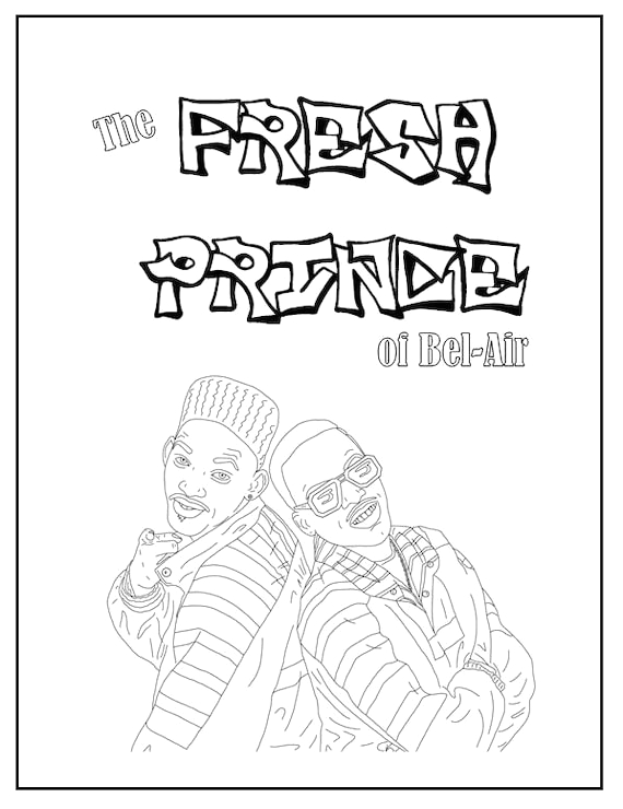 Fresh Prince Of Bel Air Coloring Pages Fresh Prince Of Bel Air Coloring Book Instant Printable