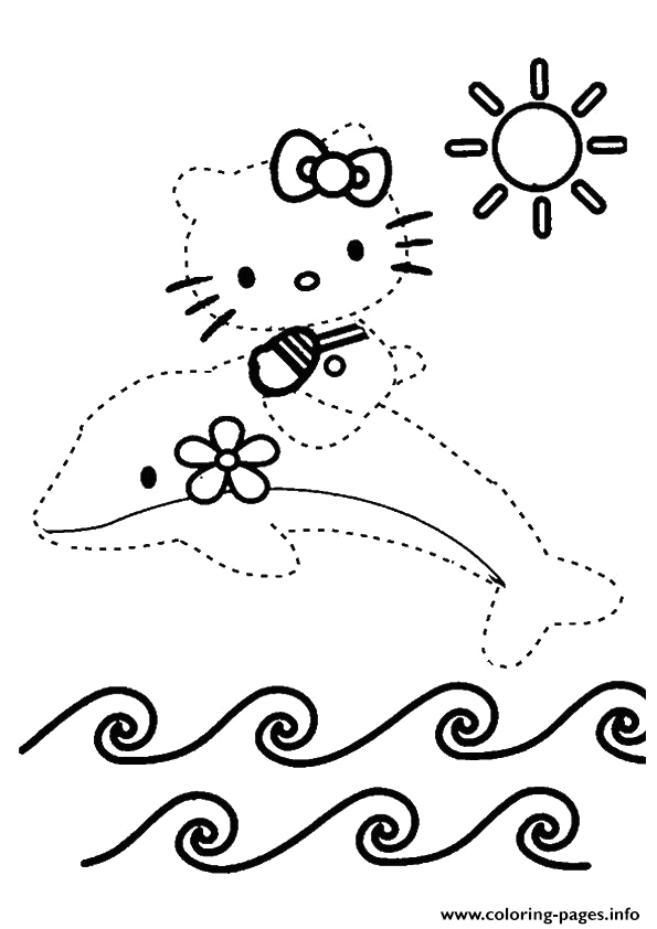 Hello Kitty Dot to Dot Coloring Pages the Hello Kitty Dot to Dot Coloring Pages Printable