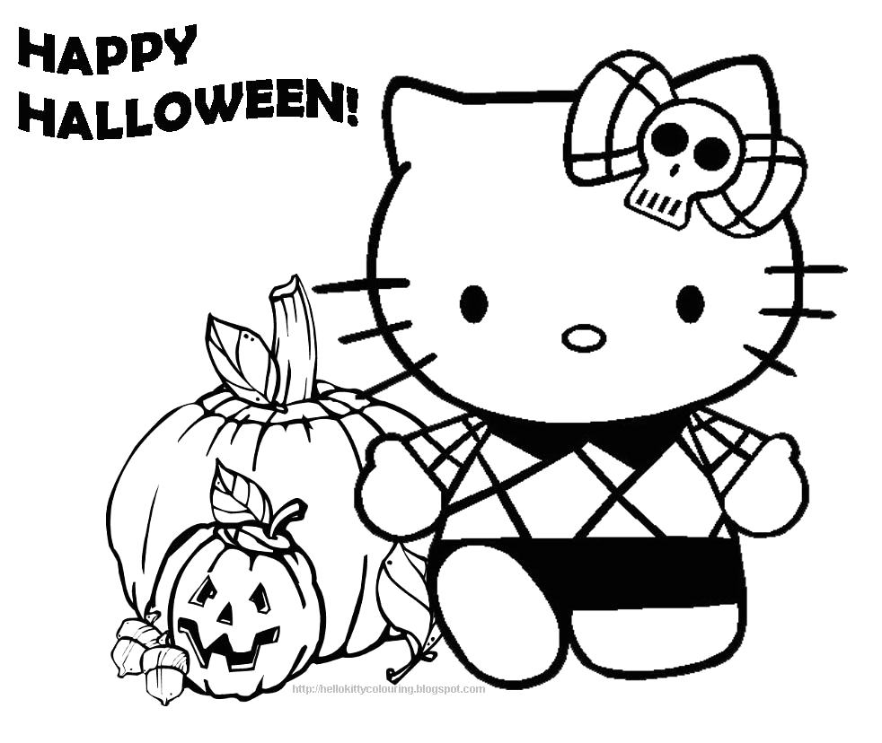 Hello Kitty Halloween Coloring Pages to Print Hello Kitty Coloring Pages