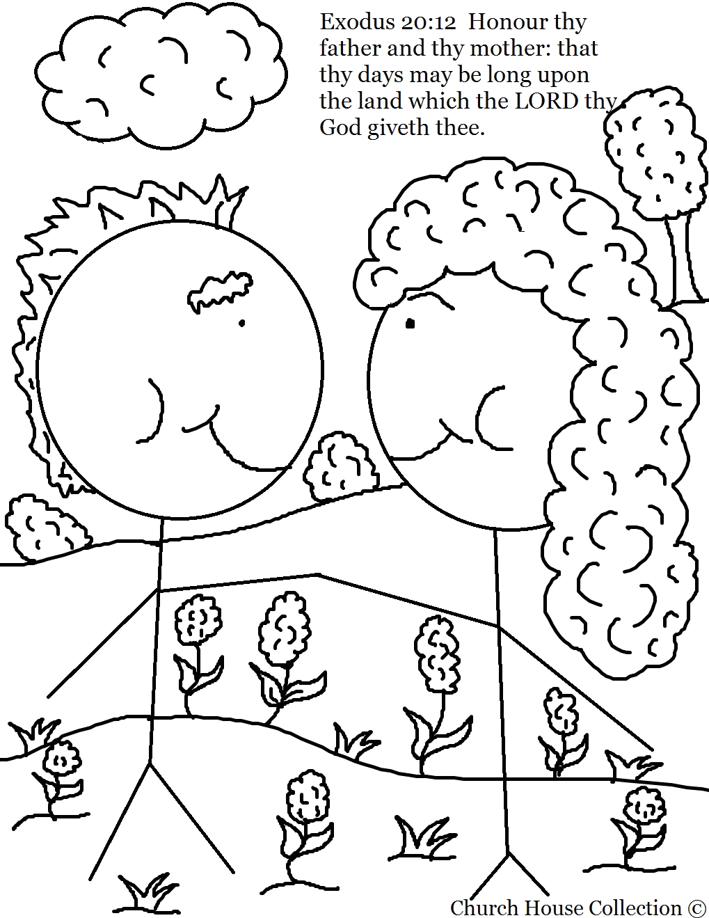Honor Thy Father and Mother Coloring Pages Church House Collection Blog Honor Your Mother and Father