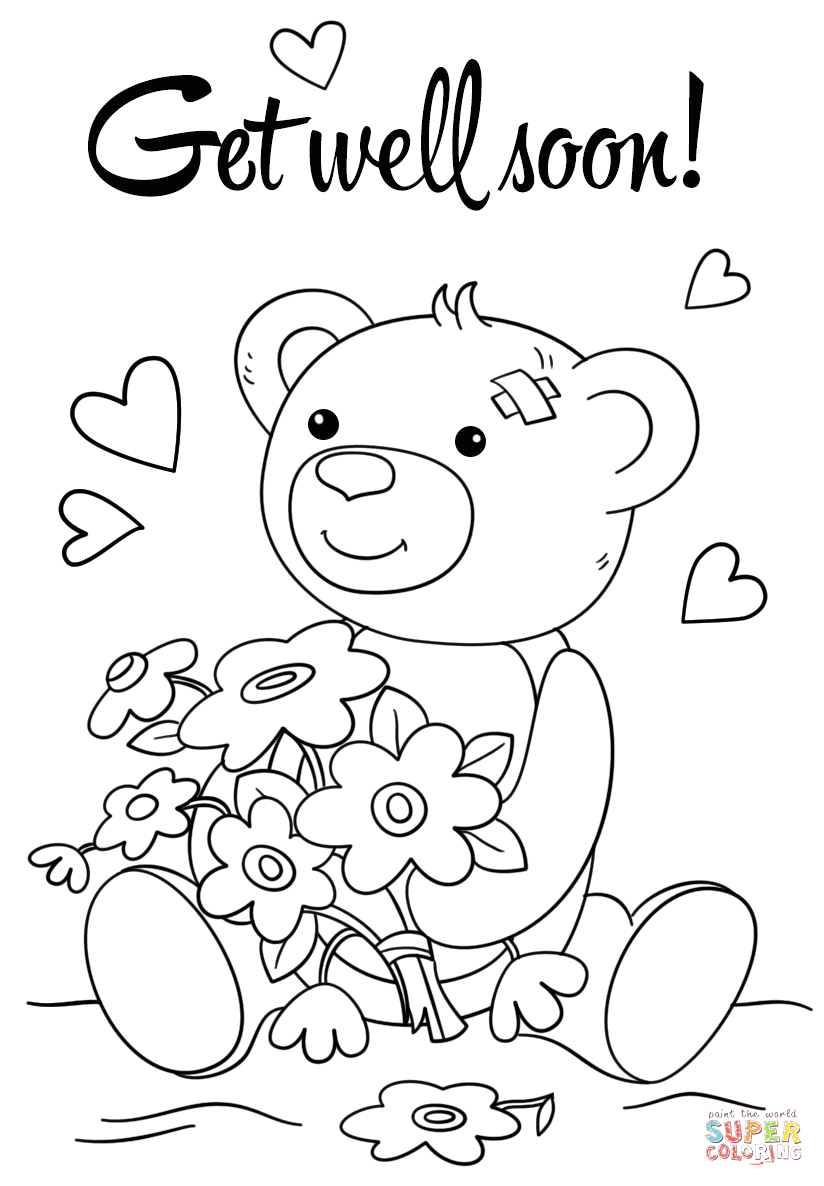 Hope You Feel Better soon Coloring Pages Hope You Feel Better Coloring Pages at Getcolorings