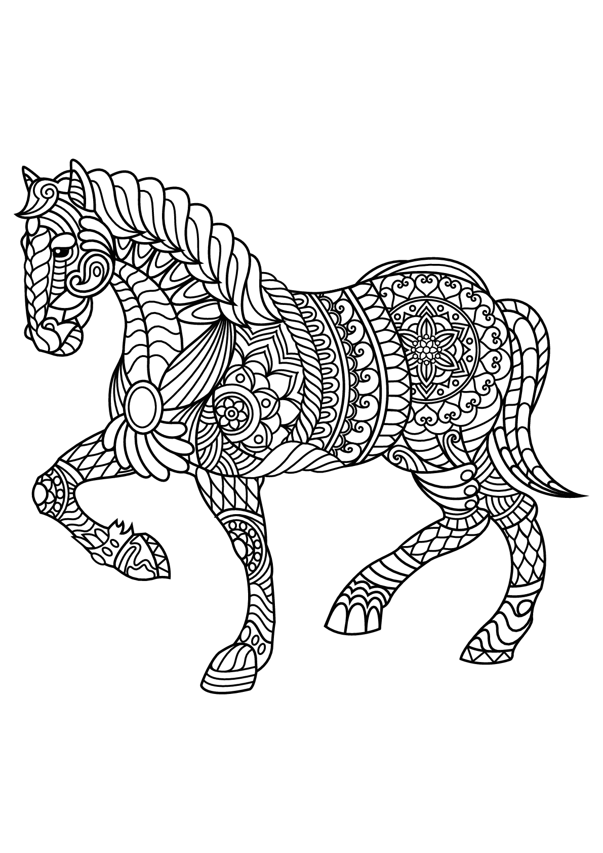 Horse Coloring Pages for Adults to Print Free Book Horse Horses Adult Coloring Pages