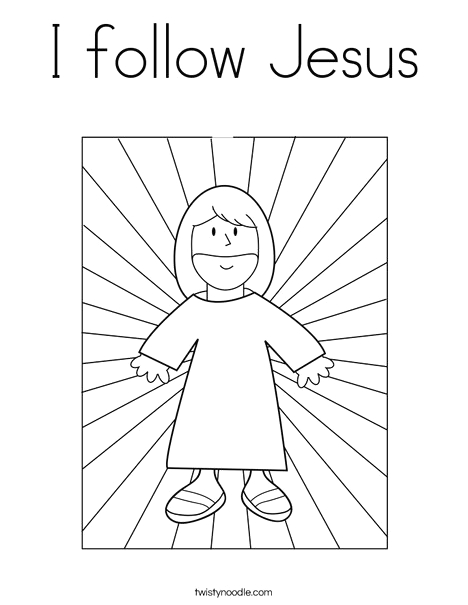 i follow jesus coloring page