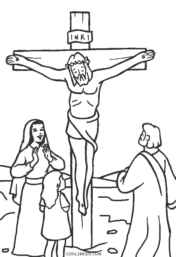 jesus christ on the cross coloring pages