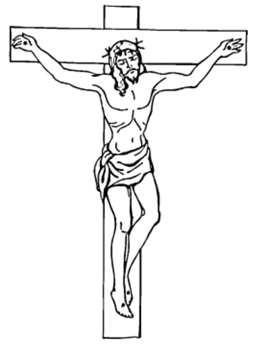 the Cross Coloring Pages of Jesus for Kids